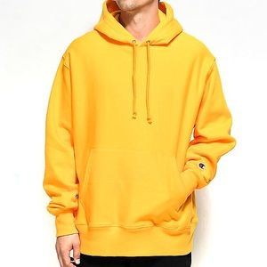 Champion Reverse Weave Logo Gold Pullover Hoodie